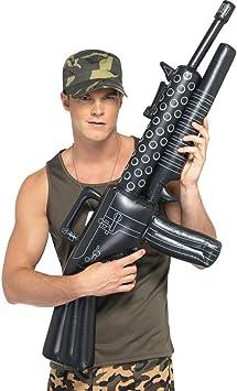NET TOYS Ametralladora Inflable Accesorios Carnaval Pistola Hinchable