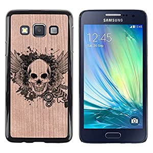 - Skull Metal Rock Heavy Music Death - - Funda Delgada Cubierta Case Cover de Madera FOR Samsung Galaxy A3 a3000 BullDog Case