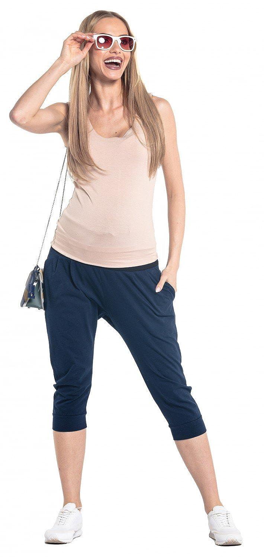 582p Damen Hose Umstandsmoden Elastischer Abgesetztem Bauchband Happy Mama