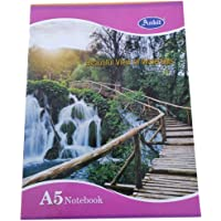 Ankit A5 Notebook, Single line, Soft Bond, 72 Pages (Pack of 4)