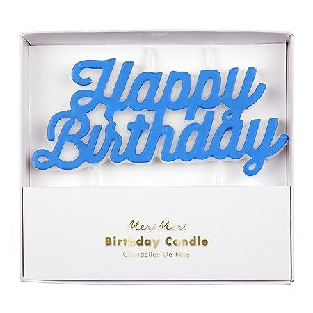 Meri Meri feliz cumpleaños VELA, 1 vela: Amazon.es: Hogar