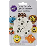 Wilton Candy Eyeballs, Great for Children's Birthday Cakes, and Cupcakes, Make that Dessert or Treat Look Back with…