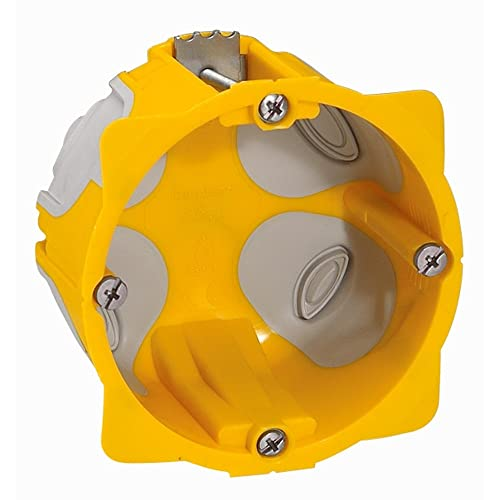 Legrand LEG90508 Boîte à encastrer Batibox Energy pour plaque de platre 1 poste - profondeur 40mm