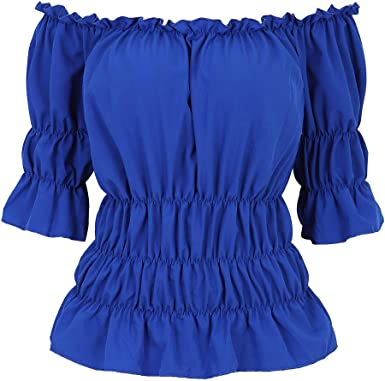 COVER UP Sheer Long Sleeve WENCH Corset Peasant CROP TOP OFF SHOULDER Blouse