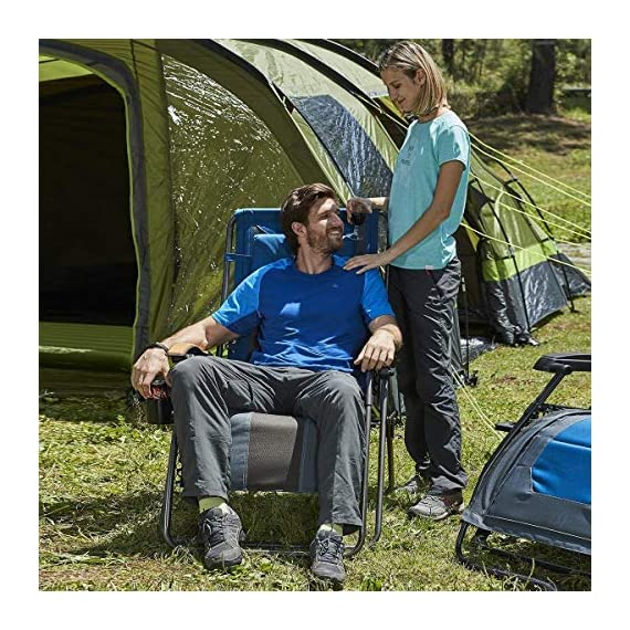 Timber Ridge Zero Gravity Chair Oversized Recliner Padded Folding Patio Lounge Chair 350lbs Capacity Adjustable Lawn Chair with Cup Holder, Headrest, for Outdoor, Camping, Patio, Lawn - Maximum loading capacity: supports up to 350lbs with sturdy steel tube frame, bungee suspension system, and durable polyester fabric Adjustable reclining position: Easy locking levers adjust and lock the chair to any position from upright to fully laid-back. Easiest locking mechanism on the market. Patented locking mechanism Open dimension: 43. 5 x 22 x 21. 3 inches. Length of chair when fully reclined is 72 inches - patio-furniture, patio-chairs, patio - 61Br q69hpL. SS570  -