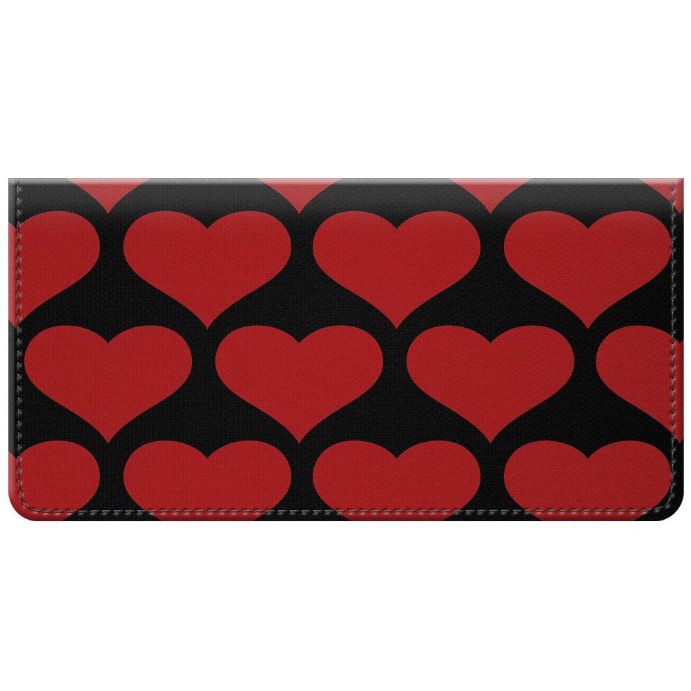 Snaptotes Red Black Heart Love Valentine Design Checkbook Cover One Size