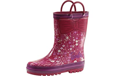 Girl's Fashion Rain Boots Pink/Purple Shoes
