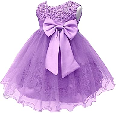 XFentech Vestido Elegante para Bebé Niña - Recién Nacido Falda ...