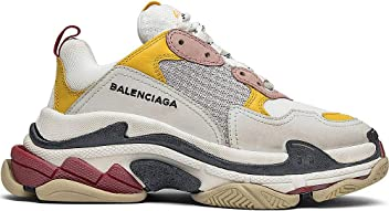Balenciaga Mens & Womens (35-45 Sizes) Triple S Trainer White Yellow
