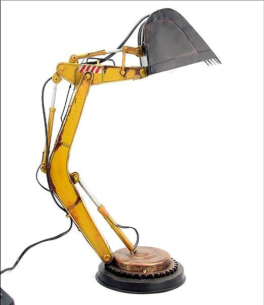 WIVION Lámpara de Escritorio para Excavadora, lámpara de Mesa móvil LED, lámpara de Mesa de Modelado de draga Industrial Creativa, Bar Antiguo, Loft Restaurante lámpara Decorativa: Amazon.es: Hogar