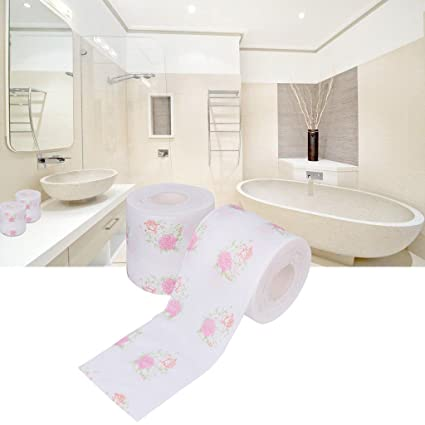 Amazon flower flower toilet paper printed tissue roll bathroom flower flower toilet paper printed tissue roll bathroom novelty funny gift mightylinksfo