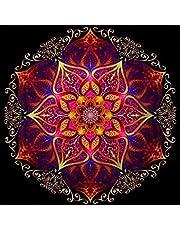 MXJSUA DIY 5D diamentowy obraz według numerów zestawy pełne wiertło kryształ górski obrazy sztuka rzemiosło do domu dekoracja ścienna czerwony kalejdoskop 30 x 30 cm