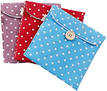 mi ji - Funda de algodón para compresas de Mujer, diseño de sánitary de Tubo, Color Aleatorio: Amazon.es: Hogar