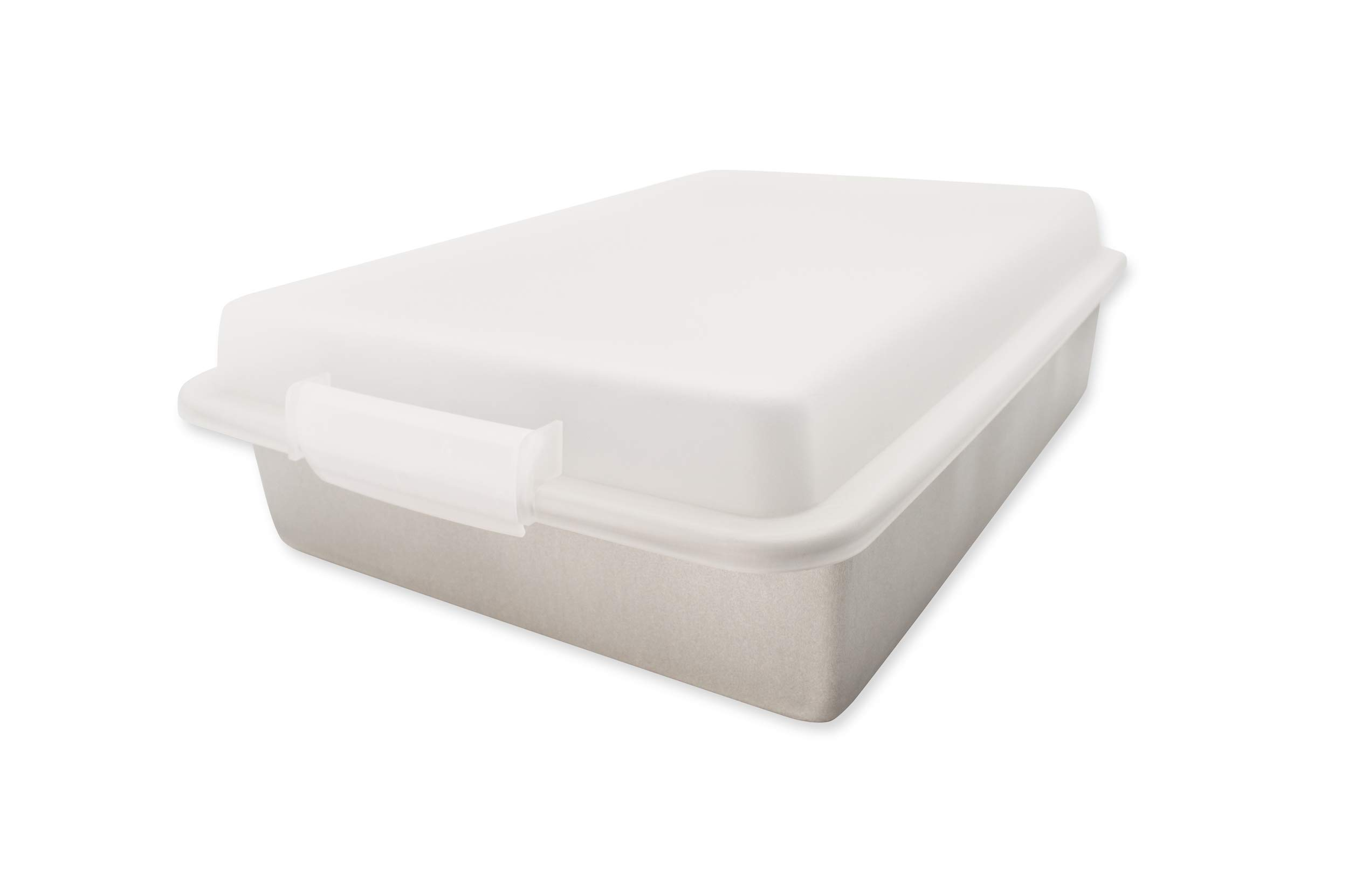 USA Pan 1117RCLD-ST-1 Bakeware Nonstick Rectangular Pan with Lid, 9x13-Inches by USA Pan (Image #1)