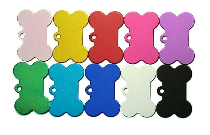 doitsa 1pcs etiquetas de perro Bones tarjeta de identidad Pet etiqueta de aleación de aluminio etiqueta Animal Fournitures para animales Size 3.8 * 2.5 ...