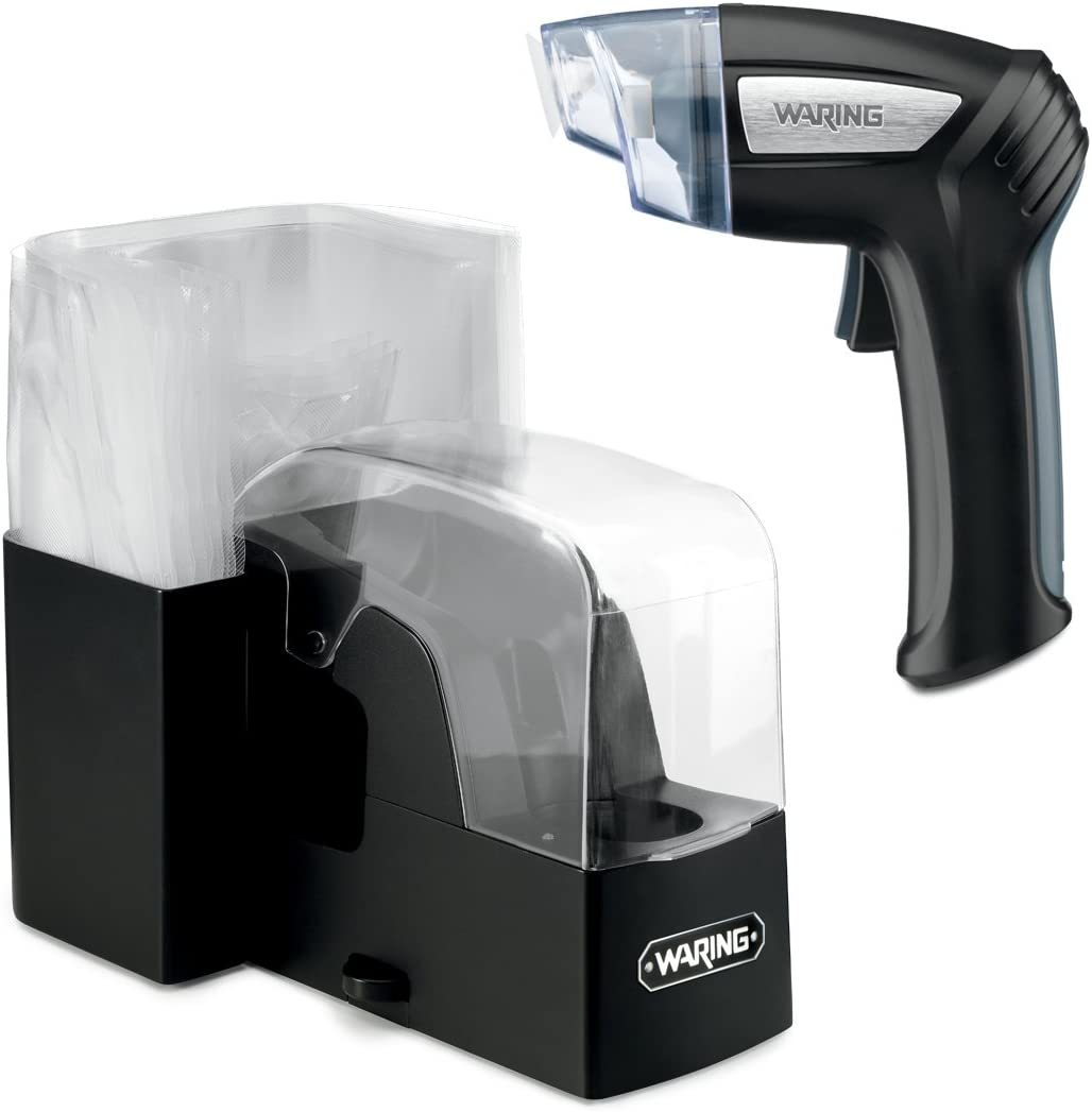 Waring Commercial WVS50 Pistol Vacuum Sealing System, 8.2 x 5 x 8.2 inches, Black