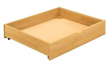 BioKinder 22146 Compartimento colchón con ruedas 100x80x18,5 cm, madera maciza de aliso biológica