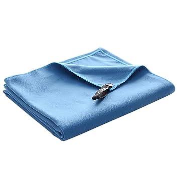 LIOOBO Toallas de Microfibra de Toalla Deportiva de Fibra extrafina de Secado rápido para Yoga Gym Golf (Azul): Amazon.es: Deportes y aire libre