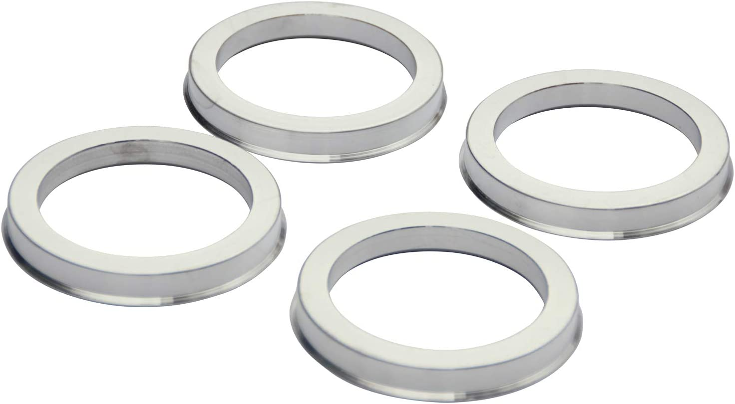 Set of 4 Alloy Aluminum Hub Centric Rings 125 to 121.3 Performance Spigot Hubrings fit 121.3mm Vehicle Hub and 125mm Wheel Center Bore Compatible with Dodge Ram 8 Lug 2500 3500 Aftermarket Rim