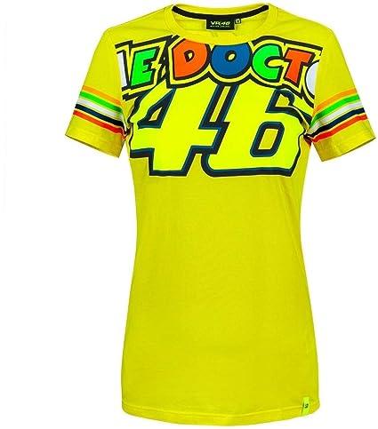 VR46 Camiseta Mujer Valentino Rossi The Doctor 46 TG. XS: Amazon ...