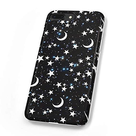 official photos 5cce5 21b98 uCOLOR Case Compatible iPhone 8 Plus/7 Plus 6s Plus/6 Plus Black Moon Stars  Blue Glitter Soft TPU Silicone Shockproof Cover Compatible iPhone 8 Plus/7  ...