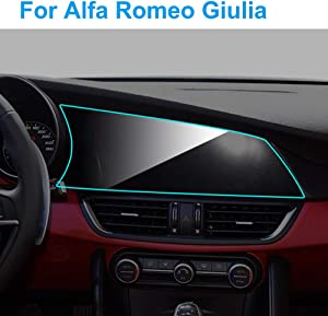 HCDSWSN Car GPS Navigation Screen Protector,for Alfa Romeo Giulia 2015 2019 Interior TPU Screen Protective Film Auto Car Accessories