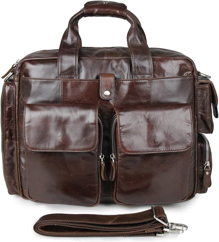 Leather Crossbody Bag 15 Mens Briefcase Laptop Bag Shoulder Bag Laptop Messenger Bag