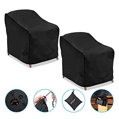 NASUM Patio Chair Covers, 2 Pack Lounge Deep Seat Cover, 38''Lx31''Dx29''H, 600D Waterproof and Heavy Duty Outdoor Furniture Covers : Garden & Outdoor