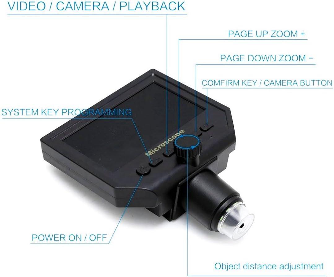 BACOENG 600X Display LCD da 4 3 Microscopio Portatile 1080P LED Lente Digitale con 8 Luci a LED e Batteria al Litio Incorporata