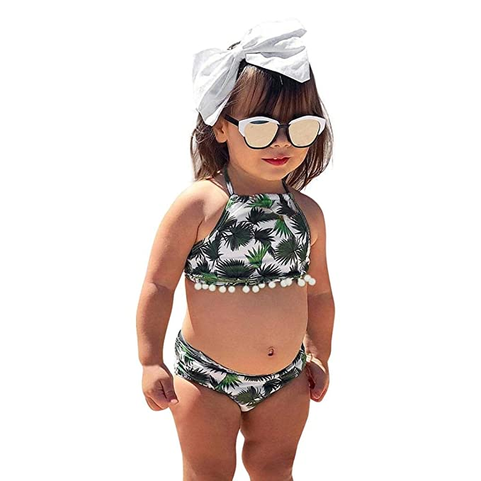 Bañador para niña K-Youth® Verano Niña Conjunto de Bikini ...