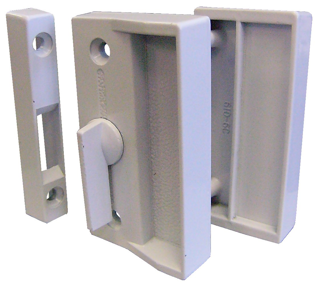 SK900W Screen Door Latch Set White Ideal Security Inc White