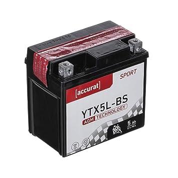 58008 VARTA 504012003A514 Powersports AGM Motorradbatterie YTX5L-BS 4Ah 12 V