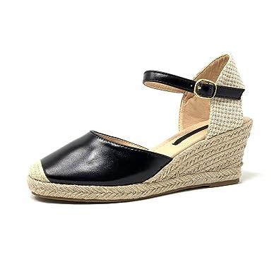 8db82fa2af02b6 Angkorly - Chaussure Mode Sandale Espadrille Ouverte arrière lanière  Cheville de Plage Femme Cuir Brillant avec