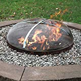 Sunnydaze Fire Pit Spark Screen Cover - Round