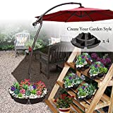 BenefitUSA 4-Piecs Single Patio Umbrella Weight Base Stand Deck Parasol with Secure Lid Cover Up to 160 Lbs (ONLY BASE)