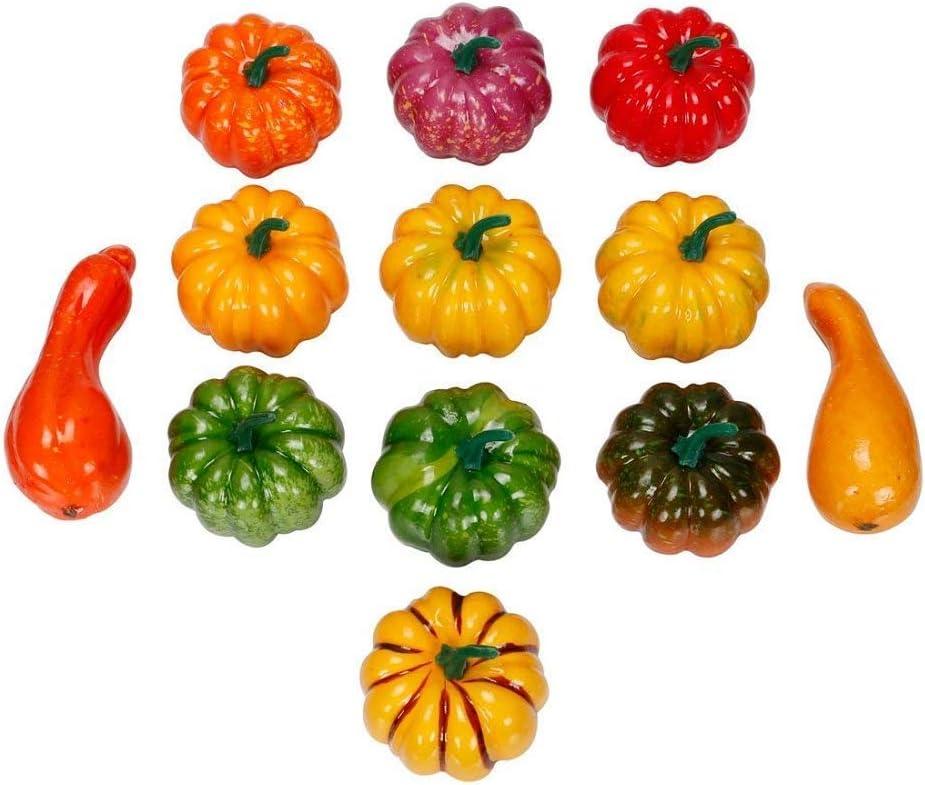 Thanksgiving le jardin et la maison Ideapark Lot de 12 citrouilles d/écoratives artificielles pour Halloween