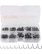 Goture Fishing Hooks With Fishing Tackle Box 500pcs 9 Size