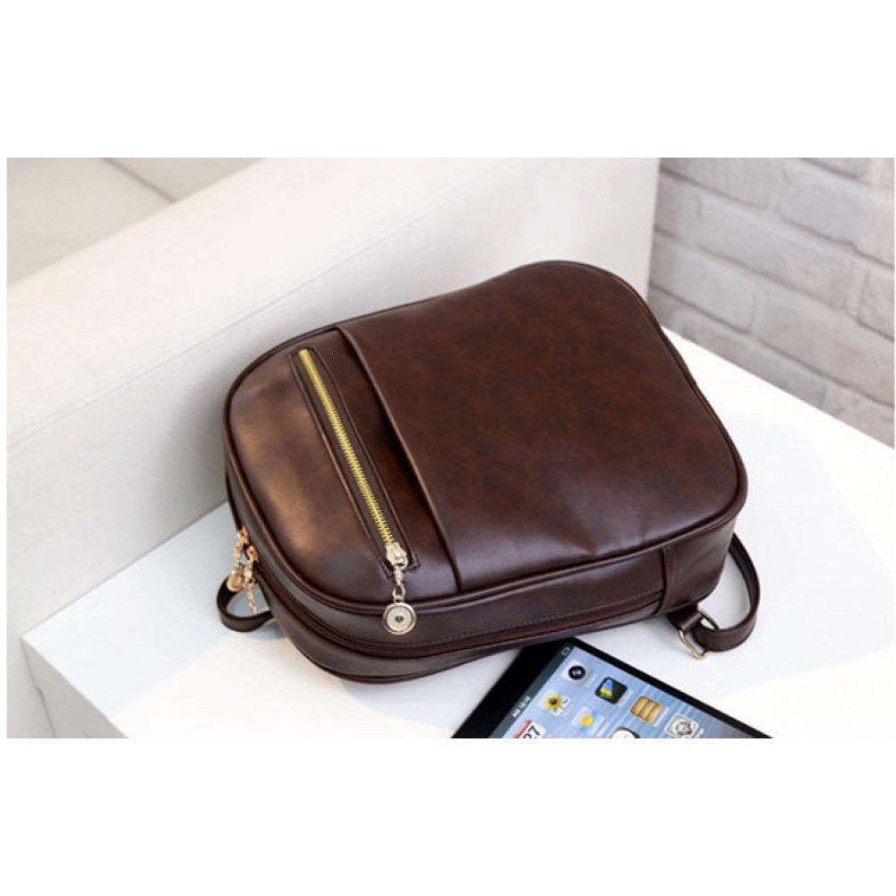 Mango King Preppy Mochilas de cuero para mujer, bolso de la compra, mochilas de embrague, bolso de hombro preppy, color canela: Amazon.es: Oficina y ...