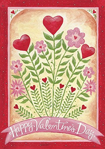 Valentines Day Happy Flowers Melinda Hipsher Art Print, 10 x 14 inches