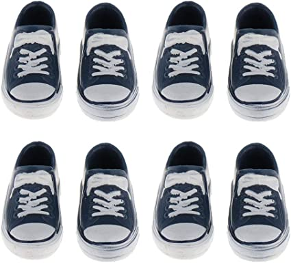 2 Pairs of Cute Dolls Canvas Shoes for 1//6 BB Licca//Momoko//Azone Accessory
