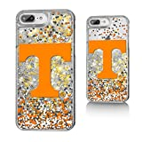 Keyscaper NCAA Tennessee Volunteers KGLG7X-0TEN-FETTI1 Apple iPhone Glitter Case, iPhone 8 Plus/7 Plus/6 Plus, Clear