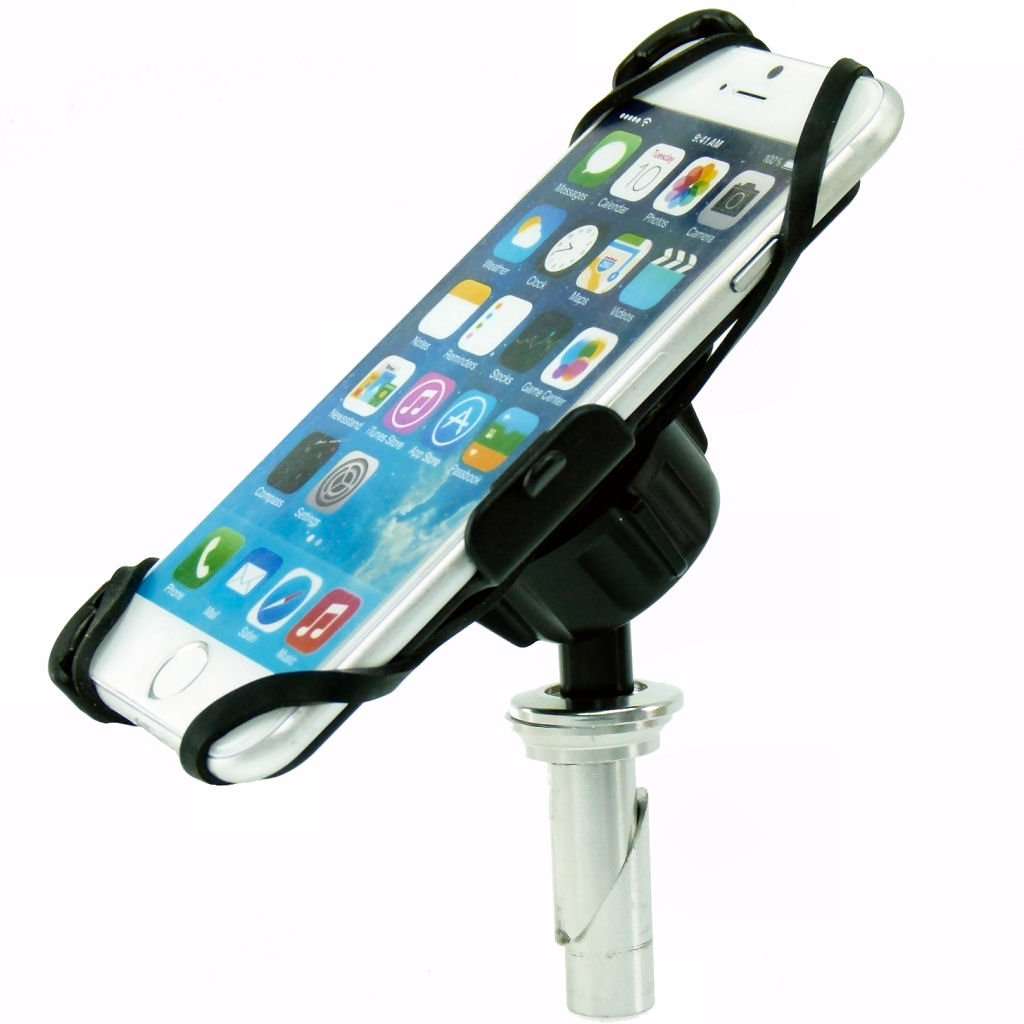 BuyBits Dedicated 17.5-20.5mm (0.68-0.81 inches) Fork Stem Sports Motorcycle Mount for iPhone 6 & 6S (4.7'')