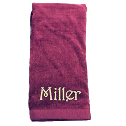 amazon com monogrammed personalized name hand towels size 16 x 26