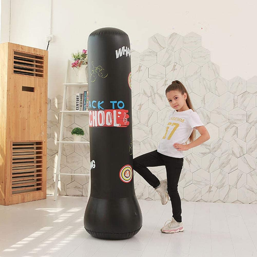 Dequate Saco De Boxeo Inflable Soporte De Saco De Boxeo Saco De Boxeo Saco De Boxeo Engrosado Independiente para Ni/ños Adultos Se Puede Usar En Interiores O Al Aire Libre admired