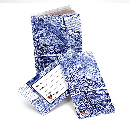 Vintage Paris Map Travel Set- Passport Cover + 2 Large Luggage Tags ()