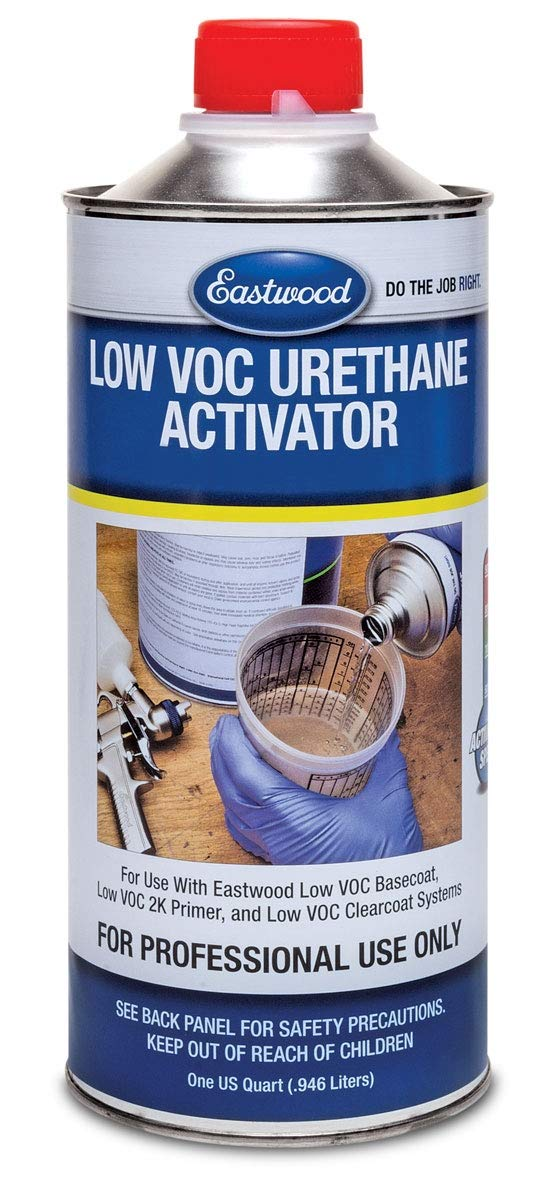 Eastwood Urethane Basecoat Midnight Metallic Black 4:1 Paint Gallon 160 SQ FT Bundle with Medium Low VOC Activator #50309ZP