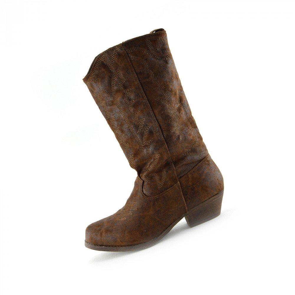 38fa81ea57ee0 Donna A Metà Polpaccio Blocco Tacco A Cavallo Cowboy Biker Boots Zip Up  Scarpe Kick Footwear ingrandisci