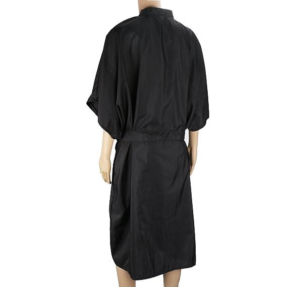 4pcs batas negras de kimono, vestido de masaje Segbeauty Spa, uniforme para el cliente para mujeres Salón de belleza, satén, impermeable, suave paño, ...