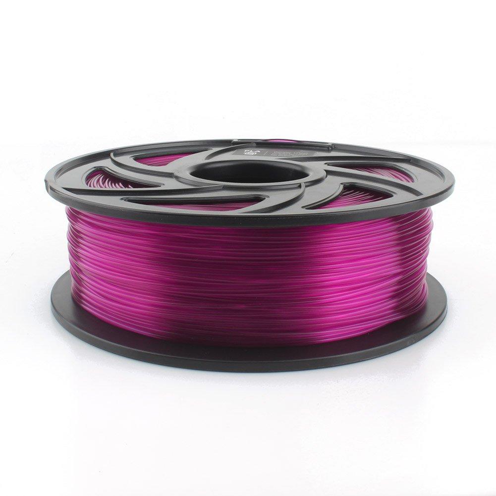 CREOZONE PLA 3D Printer Filament Clear Purple 1.75mm 1KG, 3D Printing Supplies, Dimensional Accuracy +/- 0.03mm, 2.2 LBS Spool, 3D Print Filament 1.75 for Most 3D Printer & 3D Pen