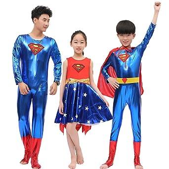 0d9ecbb191e3be スーパーマン 全身タイツ コスプレ衣装 子供 キッズ ハロウィンコスチューム (男M身長120-